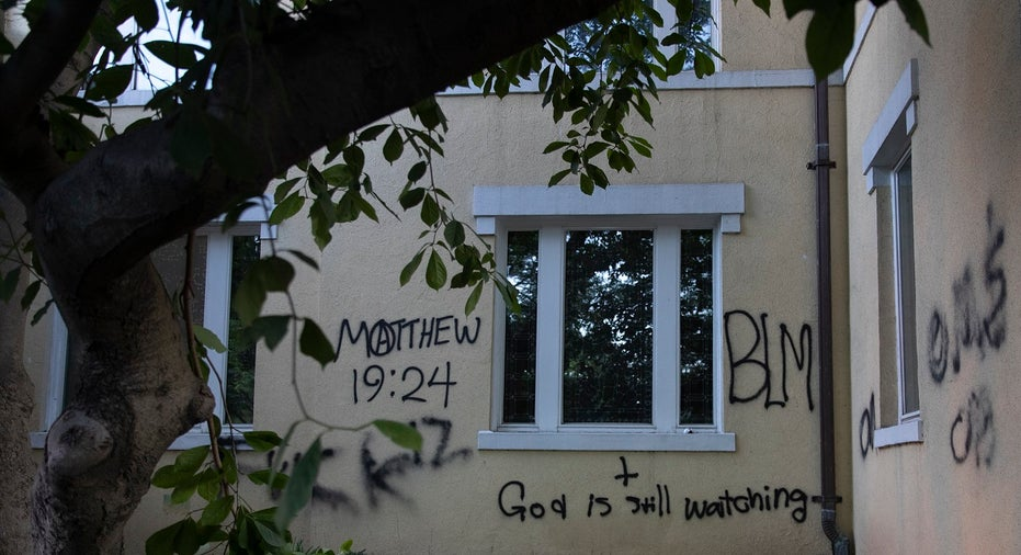Historic St. John's Episcopal Church in Washington, D.C., is Vandalized by Protesters