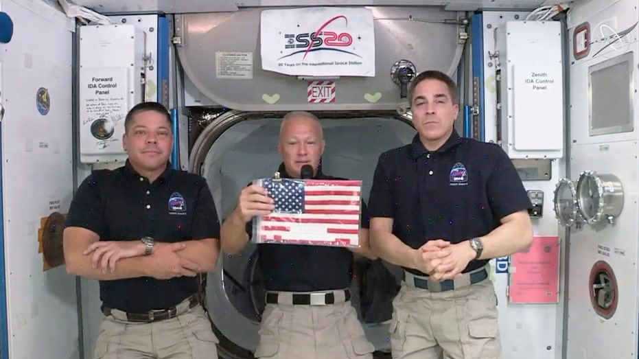 First SpaceX astronauts to speak from the International Space Station