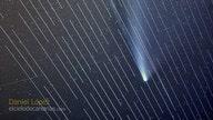 SpaceX satellites photobomb comet pictures