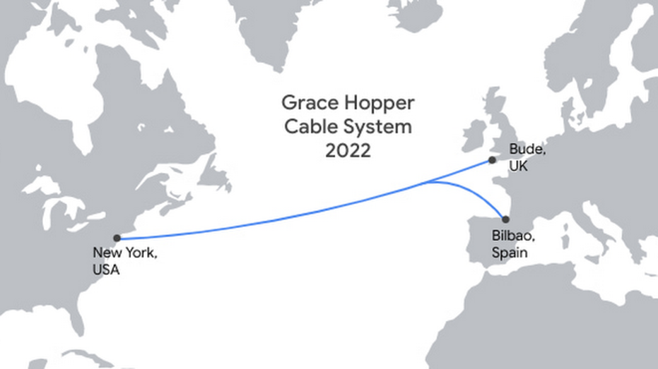 Google`s new data cable to link US, UK and Spain