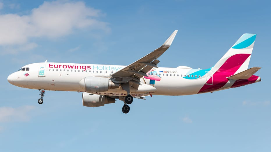 Eurowings Airbus A320 airplane at London Heathrow
