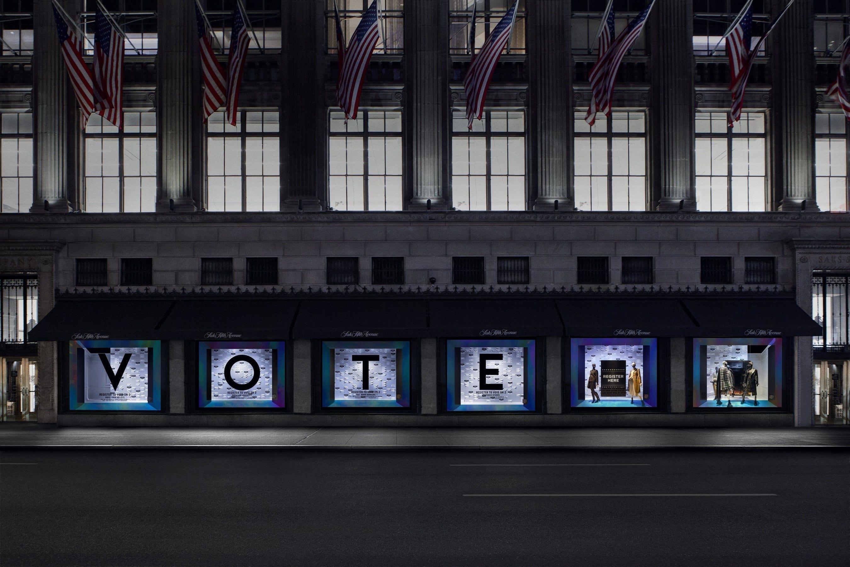 Saks Fifth Avenue offering 2020 voter registration