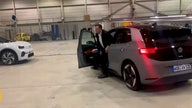 Watch: Elon Musk test drives electric Volkswagen and says 'it's pretty good'