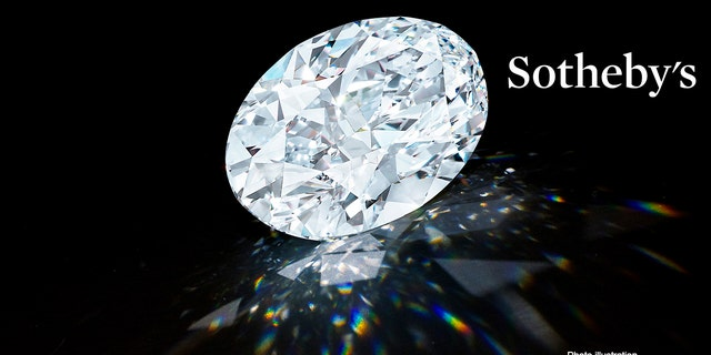 102.39-carat D Colour Flawless Oval Diamond. (Sotheby's)