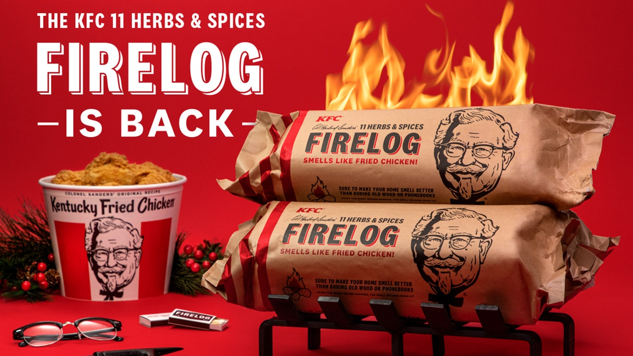 Walmart exclusively nabs KFC's coveted chicken-scented firelogs