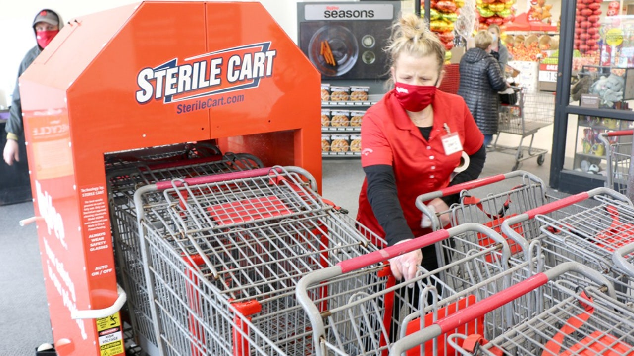 Hy-Vee unveils cart sanitizing system in response to coronavirus, first grocery chain to use technology - Fox Business