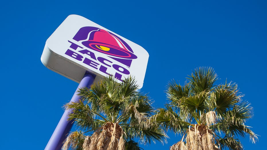 Taco Bell sign and palm trees