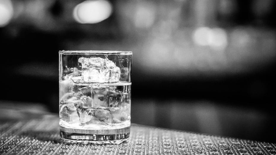 Black and White Whiskey on the Rocks