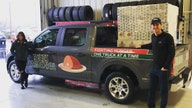 NASCAR's Joey Logano and Hailie Deegan deliver 350 holiday hams to charities in Ford F-150