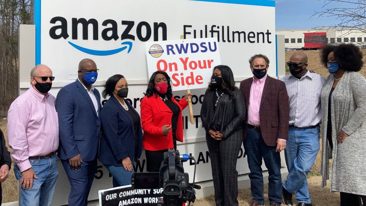 Labor movement targets Amazon as a foothold in the South - Fox Business
