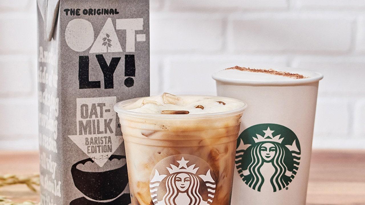 Starbucks adding Oatly oat milk to national menu, debuting new non-dairy drinks - Fox Business