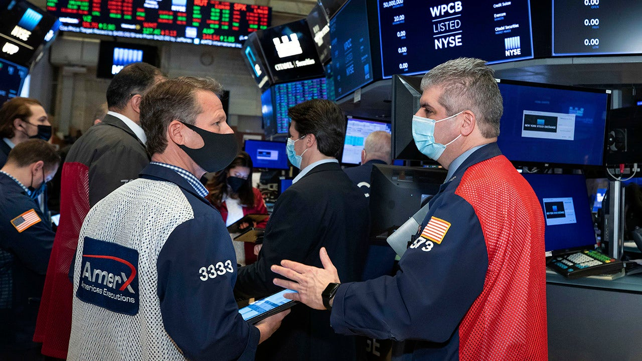 US markets lower one day after new records set – Fox Business