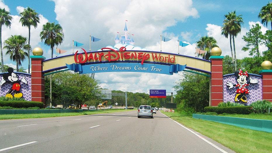 Entrance to Walt Disney World in Orlando, Florida