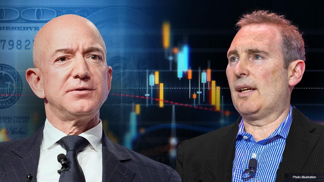 Amazon stock nears record after Bezos-Jassy handoff