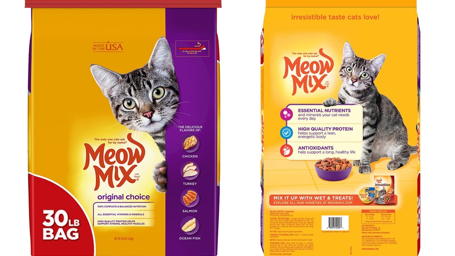 The parent company of Meow Mix cat food announced a limited recall Friday after finding potential salmonella contamination in 30-pound bags of Original Choice Dry Cat Food.