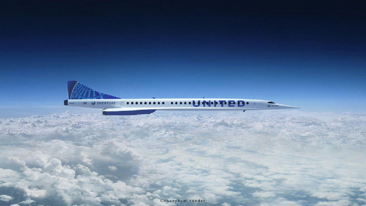 United Airlines to buy 15 Boom Supersonic Overture jets