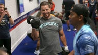 Mark Wahlberg attends F45 gym opening on San Diego military base