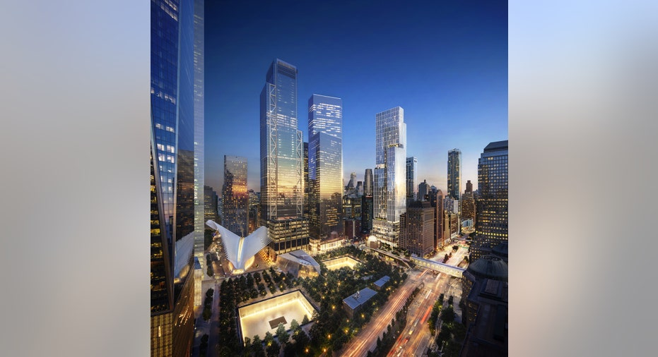 A rendering of the 5 World Trade Center residential building