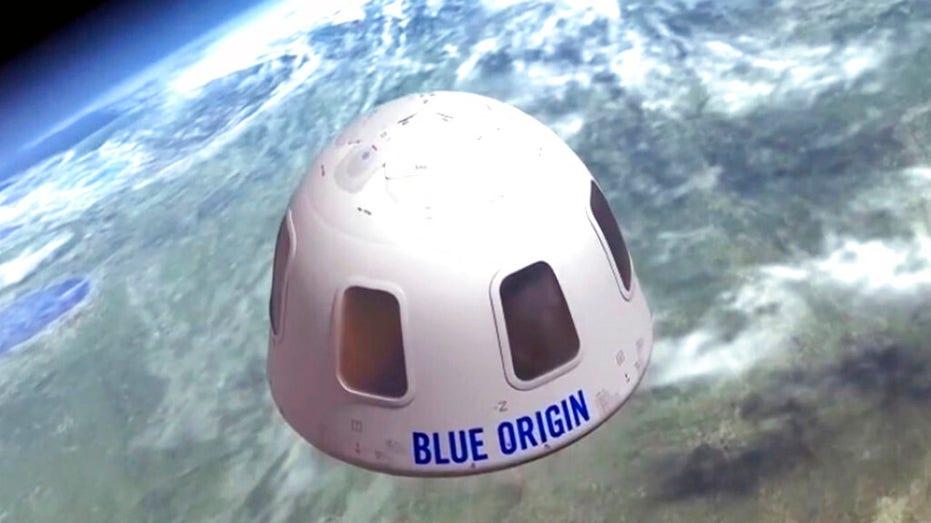 Blue Origin illustrated image of Bezos' space capsule