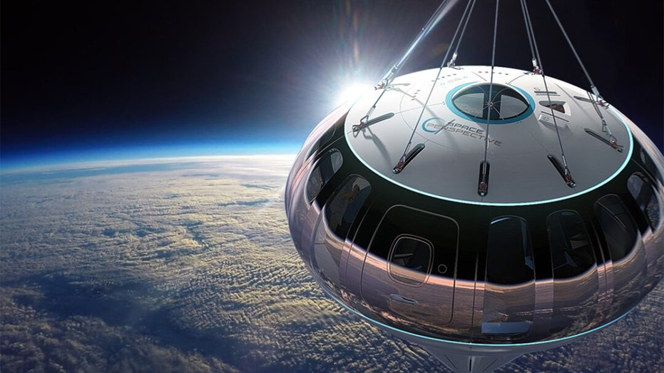 The six-hour journey is in a pressurized capsule propelled by a spaceballoon.