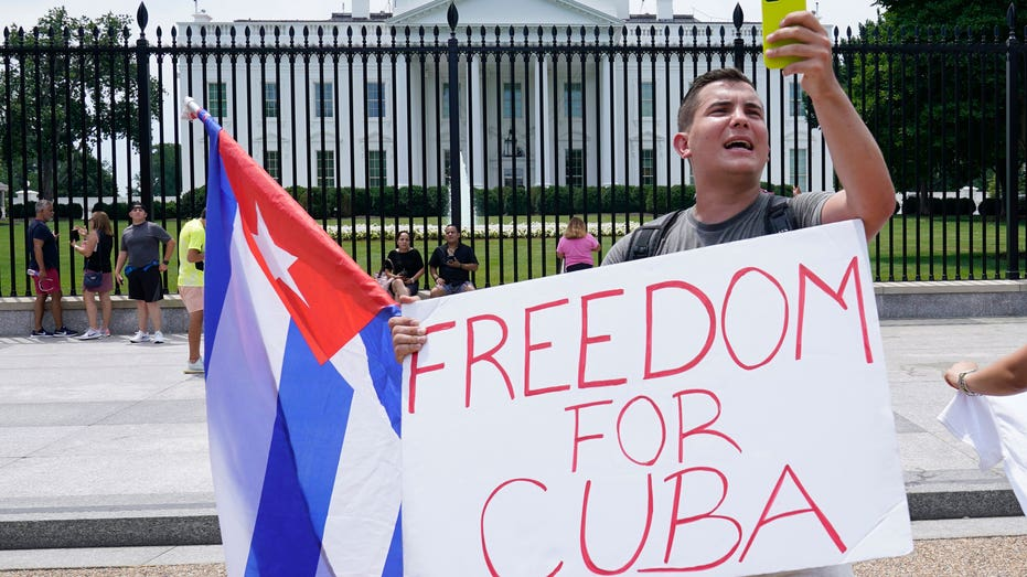 CUBA-PROTESTS-WHITE-HOUSE