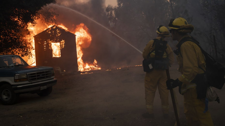 California firefighters battle wildfires during the Zogg Fire