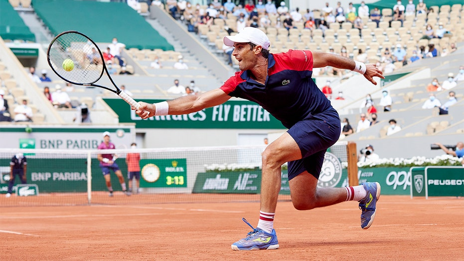 Tennis player Pablo Andujar in the French Open