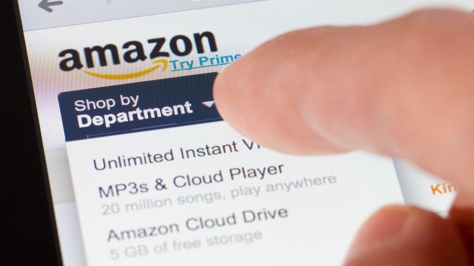 shopper browsing Amazon website