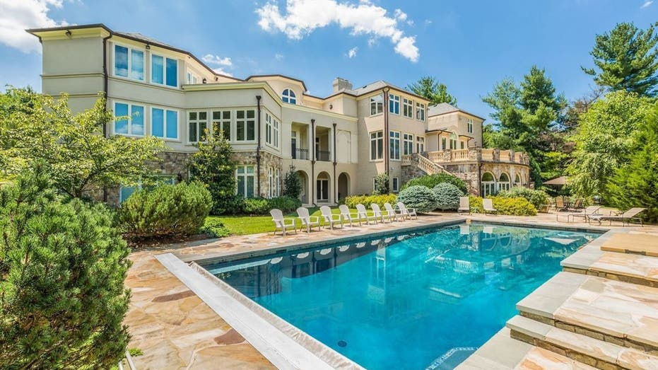 Pool behind Mike Tyson's former Marland home