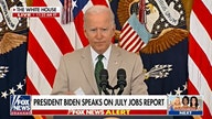 Biden cheers jobs numbers but warns 'today is not a day of celebration'