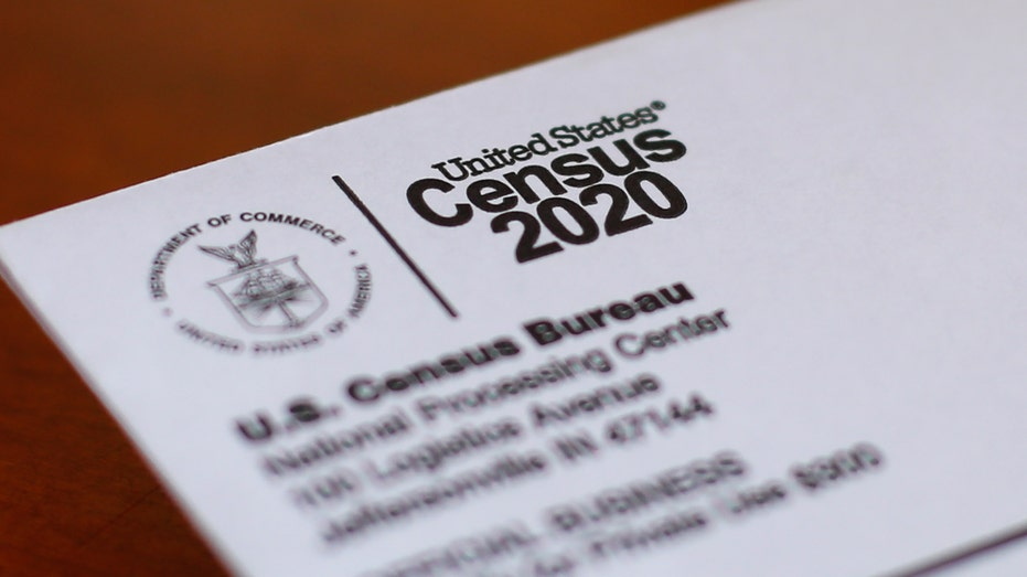 A picture of an envelope containing a 2020 census letter mailed to a U.S. resident in Detroit.