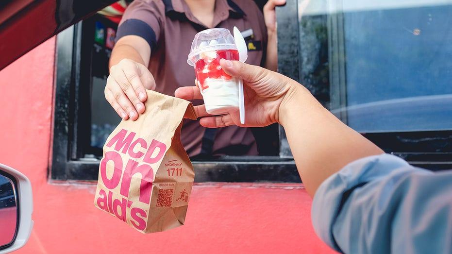 McDonald's take out bag