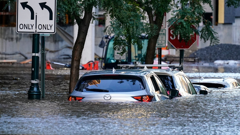 Shown is flooding in Philadelphia, Thursday, Sept. 2, 2021 in the aftermath of downpours and high winds from the remnants of Hurricane Ida that hit the area. (AP Photo/Matt Rourke)