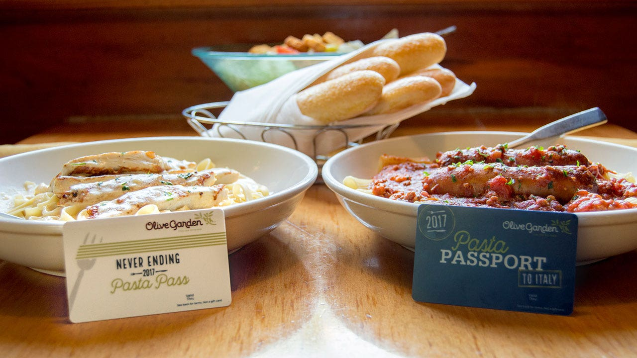 Olive Garden\'s Never-Ending Pasta Passes sell out within one second ...