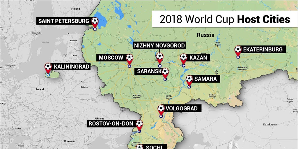 2018 World Cup stadiums hosting matches in Russia: A guide ...