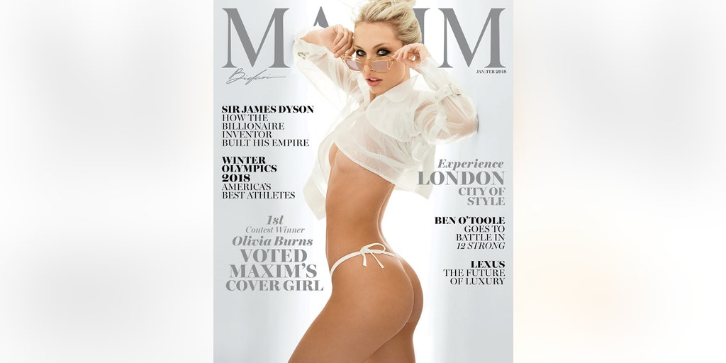 Maxim introduces newcomer Olivia Burns as fan-voted cover