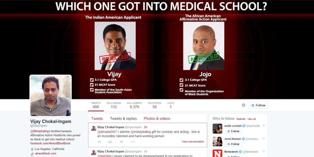 Mindy Kaling S Brother Pretended To Be African American To Get Into Med School Fox News