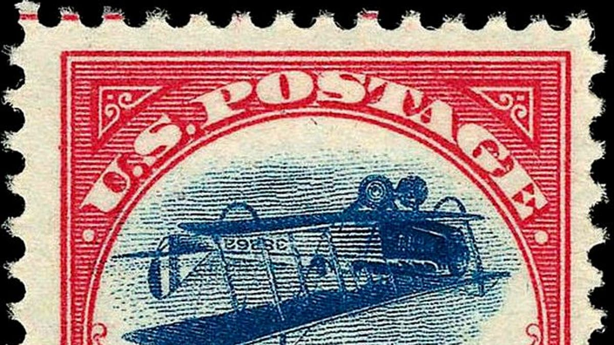 JENNY STAMP STAMP COPY OF 24 CENT INVERTED 1918 THE MOST FAMOUS U.S