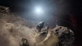 An asteroid-smashing star ground a giant rock to bits and covered itself in the remains