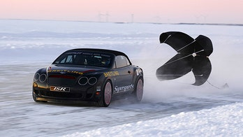 Bentley Sets Speed Record of 205 mph...On Ice