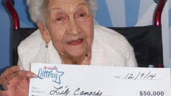 101-year-old lottery winner says money will be used to fix her roof