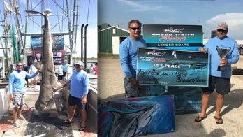 Massive 12-foot tiger shark caught off the coast of Texas