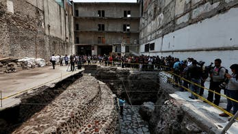 Archaeologists discover Aztec ball court in the heart of Mexico City