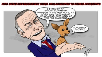 Political Cartoon Commentary: Steven King is in the Dog House with Latinos