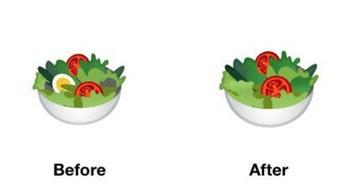 Google attacked on Twitter for 'inclusive' vegan salad emoji