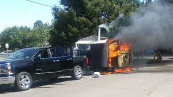 Army veteran's BBQ truck goes up in flames, but he says 'the fire will not win'