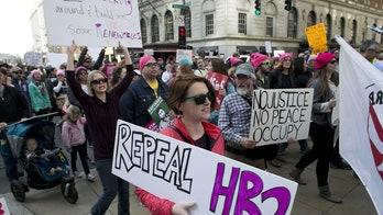 Massive crowd protests Trump, anti-LGBT law in North Carolina