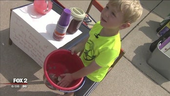 After friend dies of cancer, boy starts lemonade stand to raise money for other kids