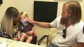 Deaf dad, toddler hear each other for first time