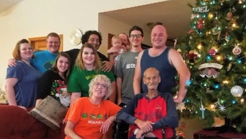 Dying dad celebrates Christmas in July with family